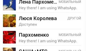 WhatsApp Messenger для смартфона
