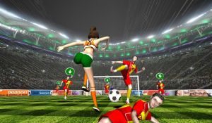 Геймплей игры Ball Soccer Flick Football