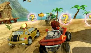 Управление игры Beach Buggy Racing