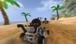 Меню игры Beach Buggy Racing