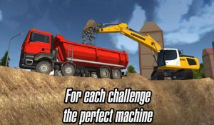 Меню игры Construction Simulator 2014