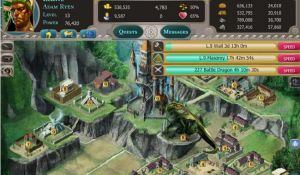 Меню игры Dragons of Atlantis