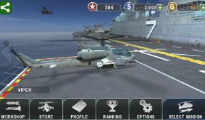 GUNSHIP BATTLE Helicopter 3D на смартфон