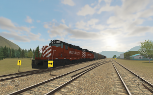 Train and rail yard simulator
