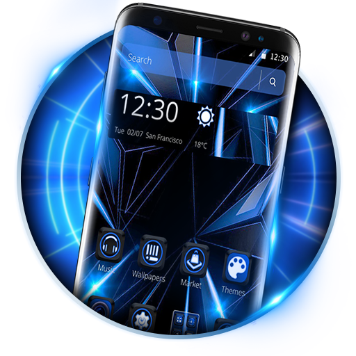 Blue Black Future launcher