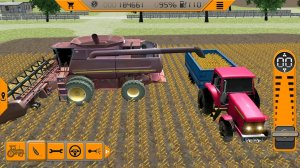 Tractor Driving In Farm
