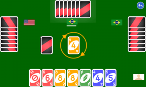 Color number card game: uno
