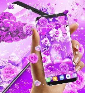 Purple Rose Love Live Wallpaper