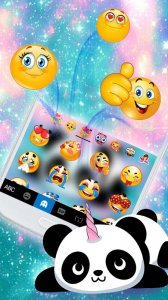 Тема для клавиатуры Kawaii Unicorn Panda