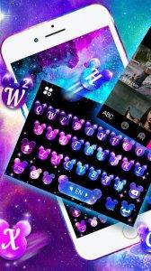Тема для клавиатуры Twinkling Galaxy Minny