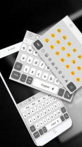 Simple Black White Keyboard