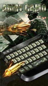 Keyboard Theme Army Camo