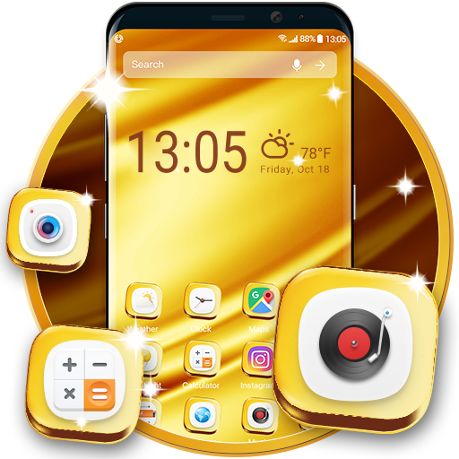 Golden Launcher for GALAXY Phone
