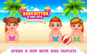 Babysitter a Day with Triplets