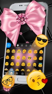 Тема для клавиатуры Luxury Pink Bow