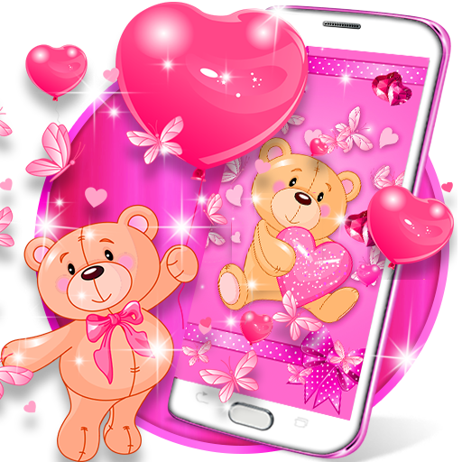 Teddy bear love hearts live wallpaper