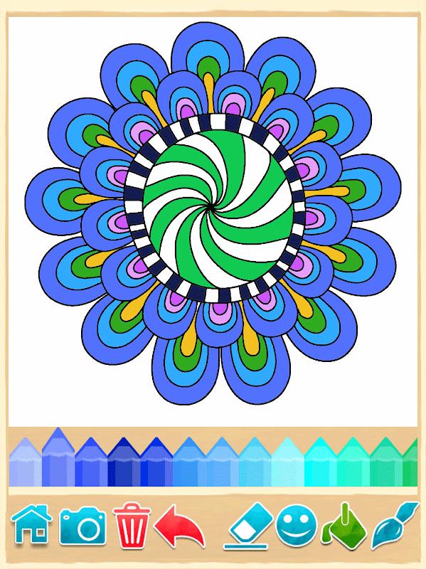 Скачать приложение Раскраски Мандала на андроид бесплатно