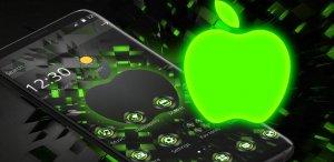 Black Neon Tech Green Apple Theme