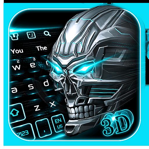 3D Neon Skull Keyboard
