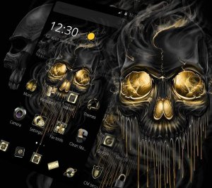 Dark Gold Horror Keyboard Theme