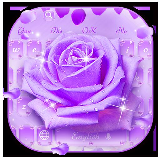 Keyboard Theme Purple Rose Petal