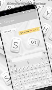 Simple White Button Keyboard Theme