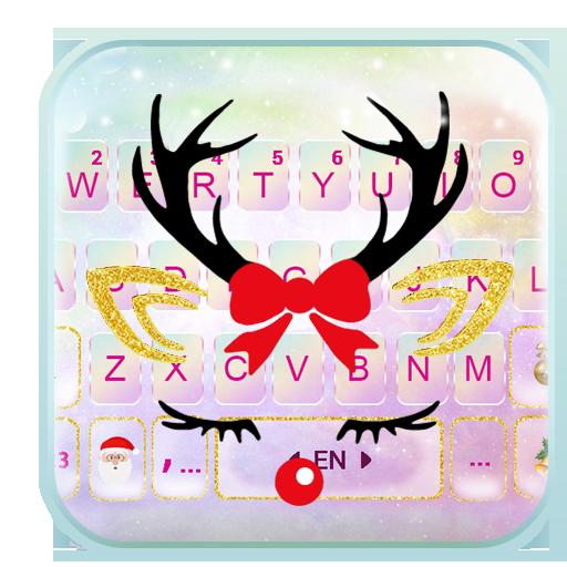 Тема для клавиатуры Christmas Reindeer