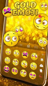 Gold Emoji Keyboard Sticker