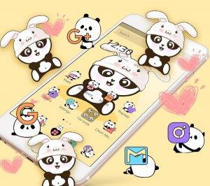 Yellow Cute Panda Bunny Theme
