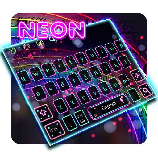 Keyboard Theme Neon Lights Colorful