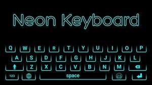Keyboard Theme Neon Lights Colorful
