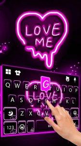 Тема для клавиатуры Neon Love Me