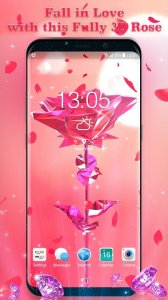 3D Pink Rose Live Wallpaper