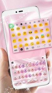 Тема для клавиатуры Pink Pearl Luxury Heart