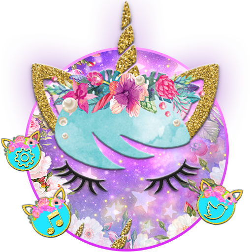 Flower Unicorn3D Launcher Theme