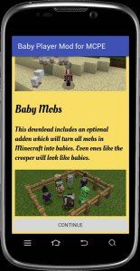 Baby Player mod for MCPE