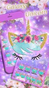 Flower Unicorn3D Launcher Theme