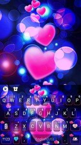 Тема для клавиатуры Pink Glow Hearts
