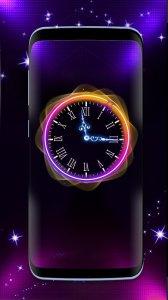 Красивые Аналоговые Часы живые обои