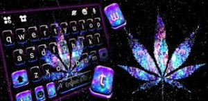 Тема для клавиатуры Shiny Galaxy Weed