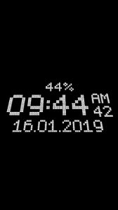 3D Digital Clock Live Wallpaper