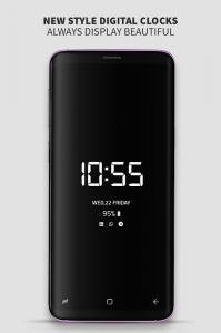 Always on Display photo clock: Super-amoled