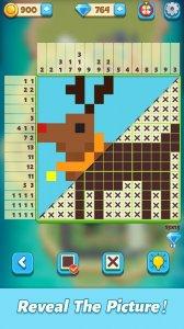 Крест пикселей-нонограмма