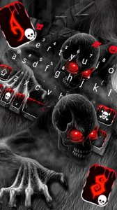 Тема для клавиатуры Zombie Monster Skull